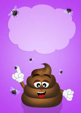 dung: funny poop Stock Photo