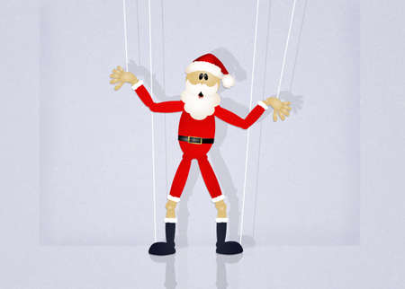 puppets: Christmas Santa Claus puppets