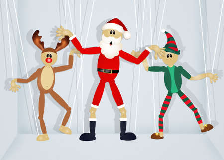 puppets: Christmas puppets Stock Photo