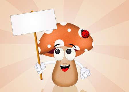 porcine: mushroom festival Stock Photo