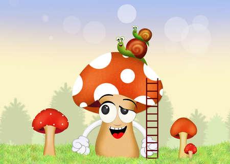 porcine: snails on fungus