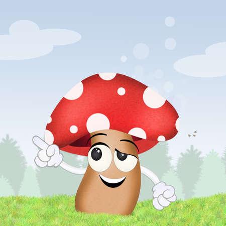 mushroom cartoon: mushroom cartoon
