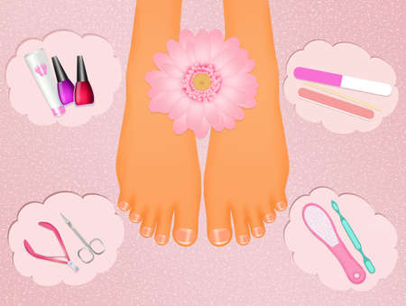 pedicure: pedicure elements