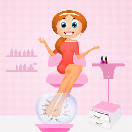 pedicure: pedicure with garra rufa Stock Photo