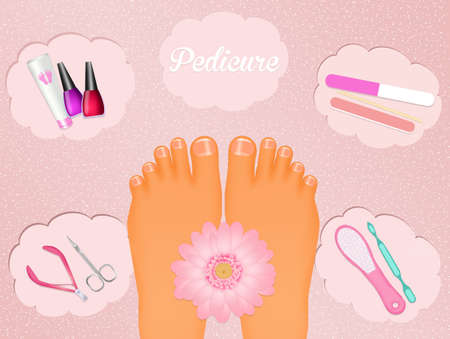 pedicure: pedicure Stock Photo