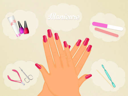 manicure: manicure Stock Photo