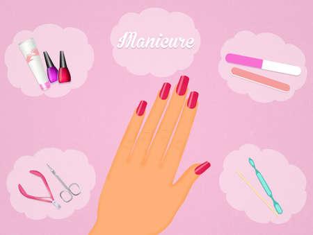 rasp: manicure Stock Photo