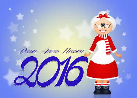 mrs santa claus: Happy New Year Stock Photo