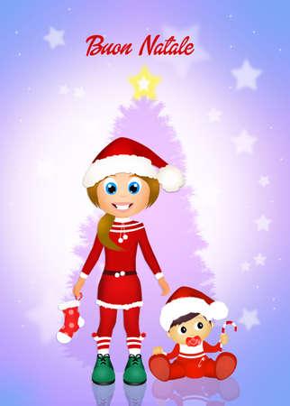 wishlist: Greeting Christmas Stock Photo