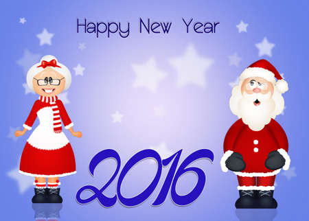 mrs claus: happy New Year