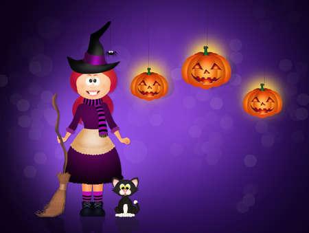 stockings woman: Halloween Stock Photo