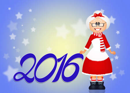 mrs santa claus: greeting for the new year