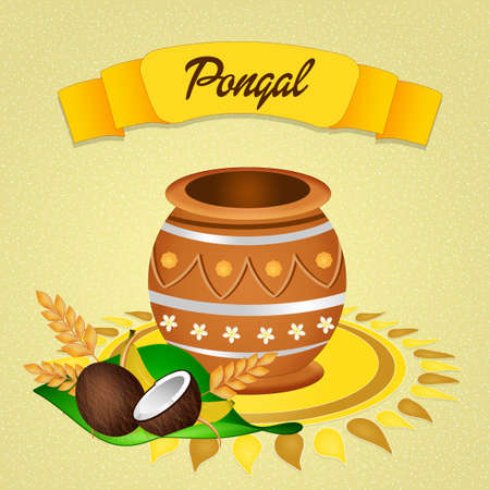 indian family: Happy pongal Stock Photo