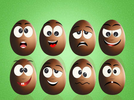 chocolate eggs: chocolate eggs with faces