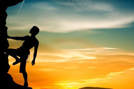free climber: free climber Stock Photo