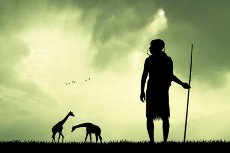 masai: Masai at sunset