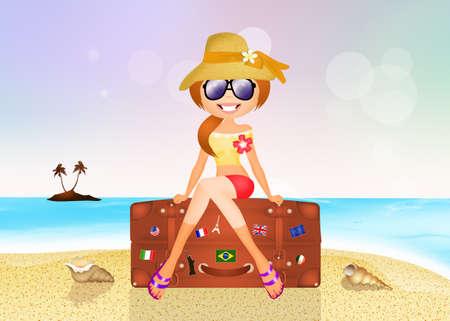 traveling: girl traveling Stock Photo