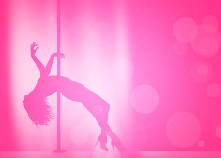 pole dancer: Lap dancer Stock Photo