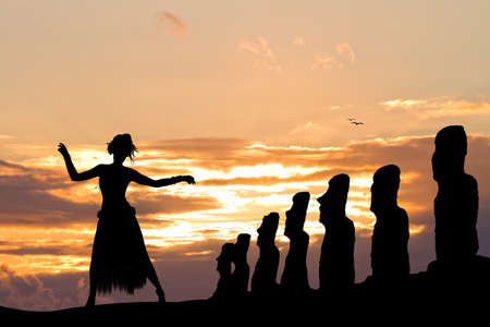 thai dance: Thai dance on Easter Island