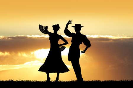 danseuse flamenco: danseurs de flamenco Banque d'images