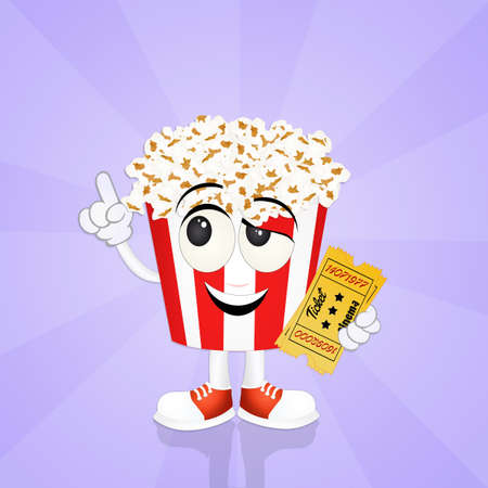 pop corn: pop corn cartoon
