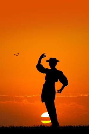 bailando flamenco: Hombre bailando flamenco Foto de archivo