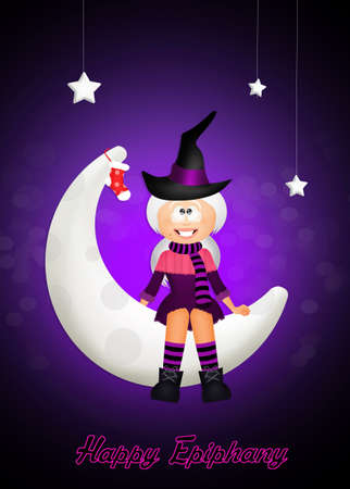 stockings woman: witch on the moon