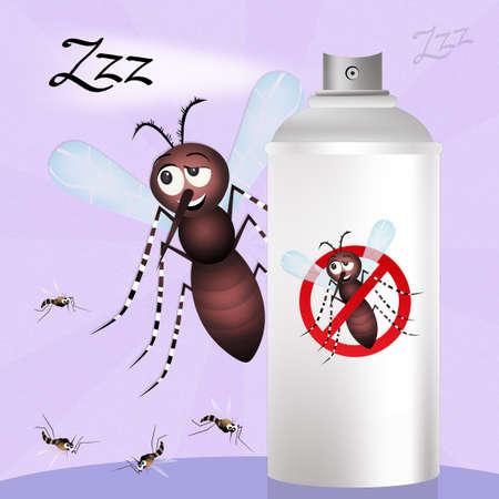 repellent: mosquito cartoon