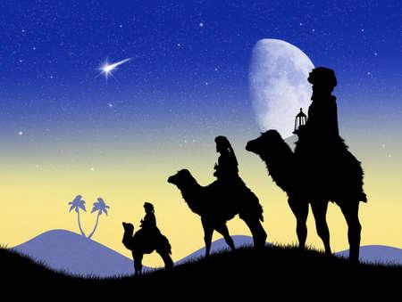 reyes magos: tres sabios