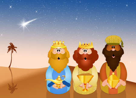 presepe: Three wise men