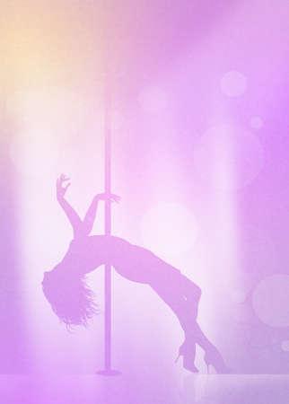 pole dance: Lap dancer Stock Photo