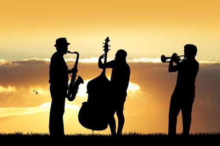 a symphony: symphony Orchestra at sunset