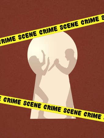 offense: illustration of crime scene