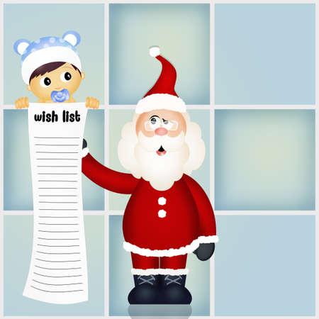 wish: wish list for Santa Claus