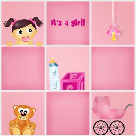 was born a girl Stock Photo