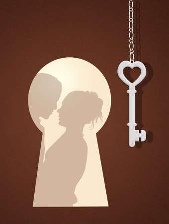key hole: the door of love