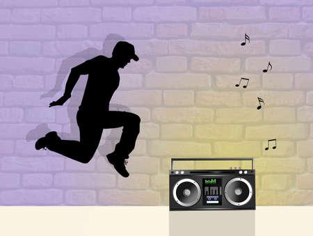 choreography: man dancing hip hop