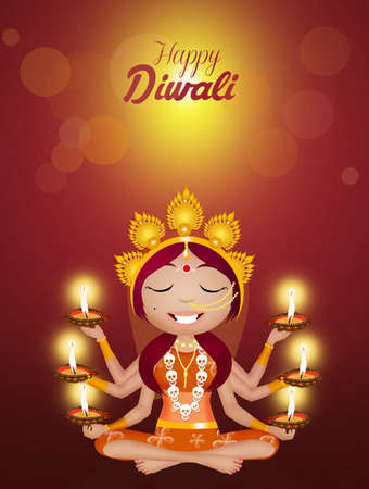 tantric: Kali goddess for Diwali Stock Photo