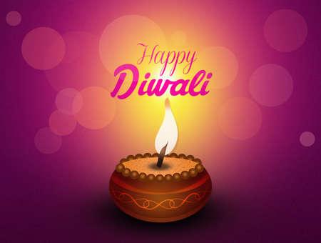 tantric: Greeting postcard of Diwali Stock Photo