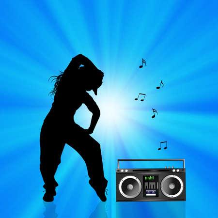 choreography: hip hop Stock Photo