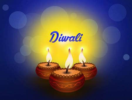 devotion: illustration of Diwali