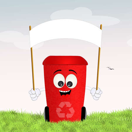 differentiate: red bin for recycle
