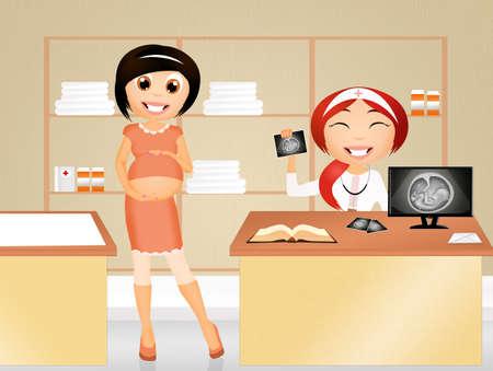 check up: Prenatal Check up Stock Photo