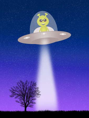 mystery man: Alien in the ufo