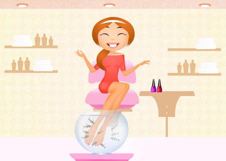 garra: pedicure with garra rufa Stock Photo
