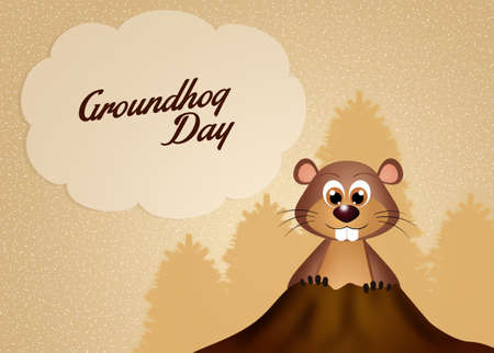 animal den: Groundhog day
