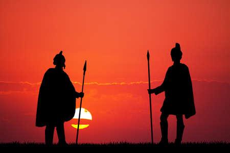 soldati romani: I soldati romani al tramonto