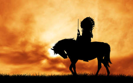 Native American Indian on horse