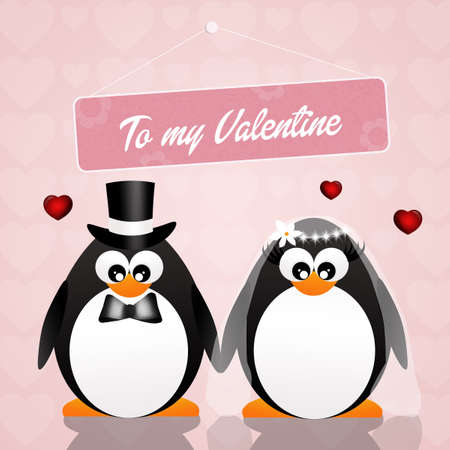 celebrate life: Penguins in love Stock Photo