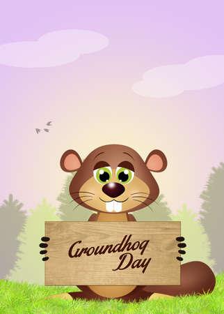 animal den: happy groundhog day